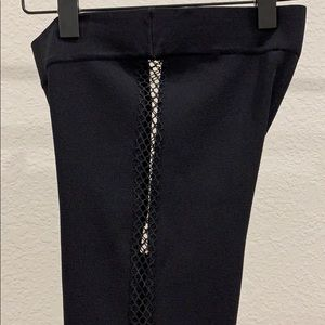 Zara Black high waisted legging with exposed sides